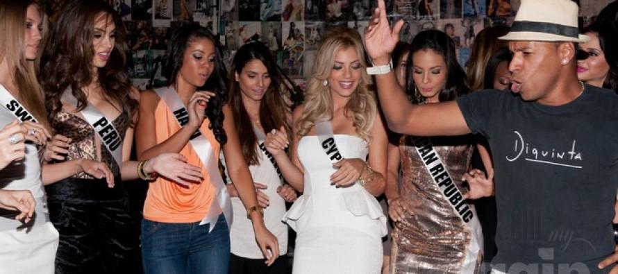Miss Universe 2011 Contestants at Diquinta bar and night club
