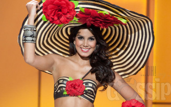 Yikes… Miss Universe Colombia Catalina Robayo makes official appearance sans underwear (Photos)