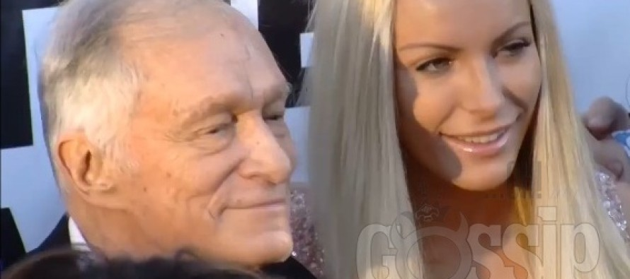 Hugh Hefner boasts of threesome with former fiancee Crystal Harris