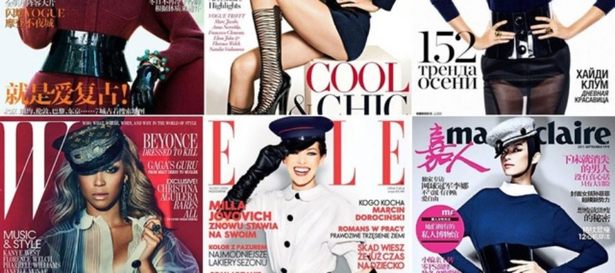 Louis Vuitton Fall 2011 hat appears on Vogue China cover