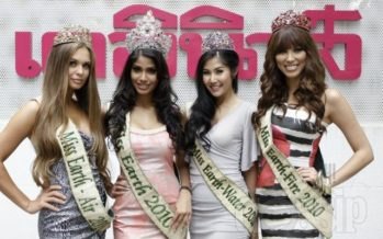 Miss Earth 2010 winners visited various media outlets in Thailand