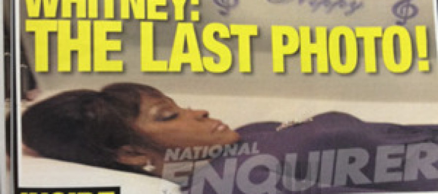 Whitney Houston in her coffin: Picture