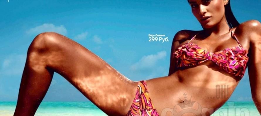Isabeli Fontana er ganske så brunbrent i H&Ms nye badetøykampanje