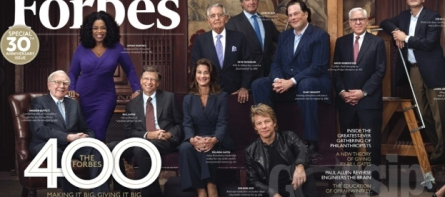 Forbes' Richest People: Oprah Winfrey makes the grade; appears on cover of magazine