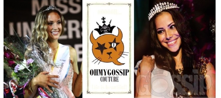 Ohmygossip Couture stroke an agreement with Miss Universe Norway Sara Nicole Andersen and Miss Universe Sweden Hanni Beronius