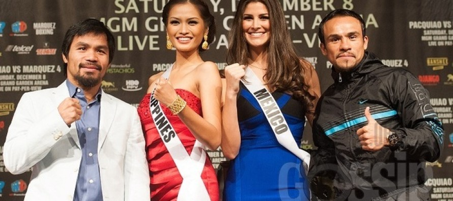 Miss Universe 2012: Manny Pacquiao vs Juan Manuel Marquez  (fighters final Press Conference)