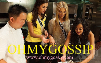 Miss Universe 2012 @ Gordon Ramsay Steak. Big gallery!