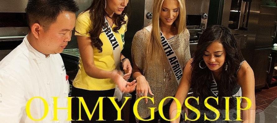 Miss Universe 2012 @ Gordon Ramsay Steak. Big gallery!