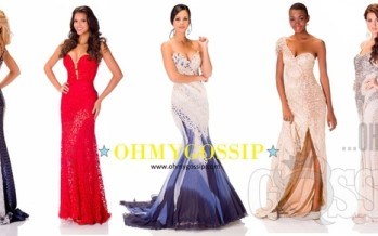 Miss Universe 2013: Contestants pose in their evening gowns at Crocus City Hall (Vol2)
