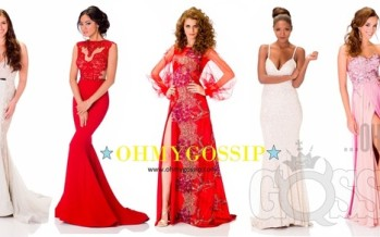 Miss Universe 2013: Contestants pose in their evening gowns at Crocus City Hall (Vol1)