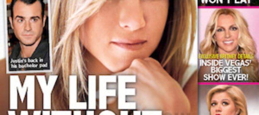 Jennifer Aniston is living without Justin Theroux
