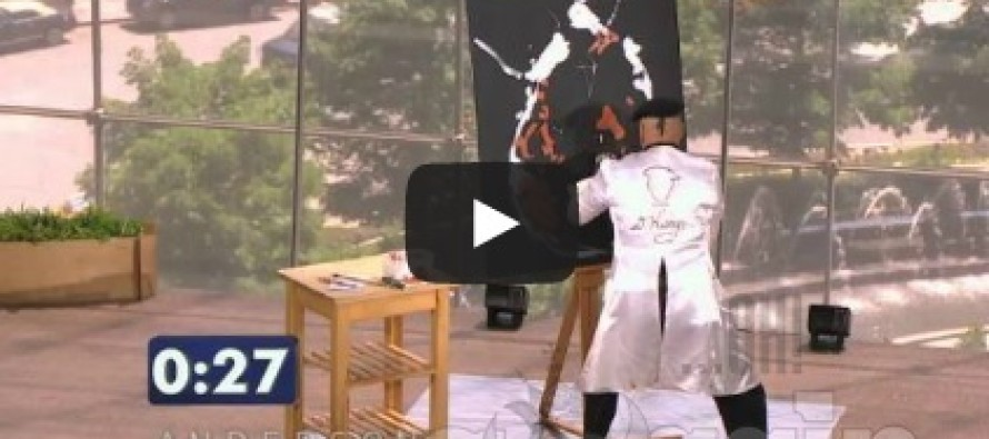 Speed Painter takes stage in 'Anderson's Viewers Got Talent'