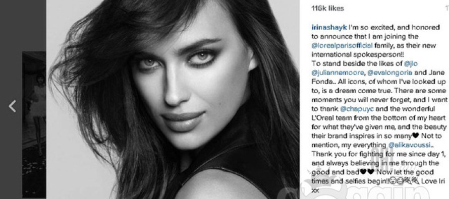 Irina Shayk is the new face of L'Oréal