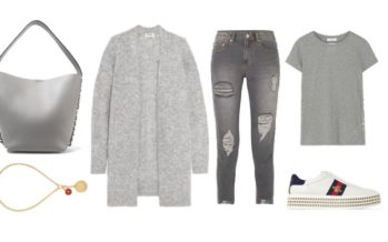 LUXURY shopping – Beautiful grey tones set for spring (Look #1)