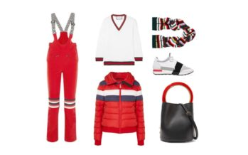 LUXURY shopping – Sporty look with red & white (Look #2)