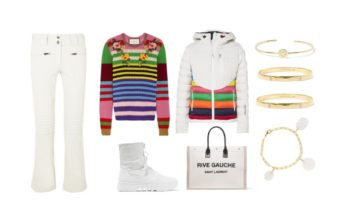 LUXURY shopping – stripes with white – sporty clothing (Look #6)