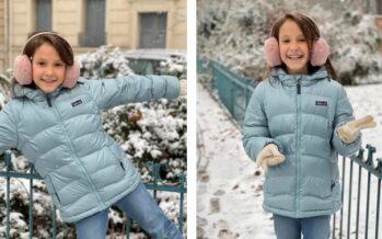Denmark: Princess Athena has fun in the snow on ninth birthday